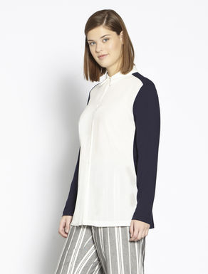 Cotton jersey and fabric shirt