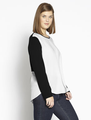 Jersey and fabric T-shirt