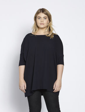Oversize stretch jersey tunic