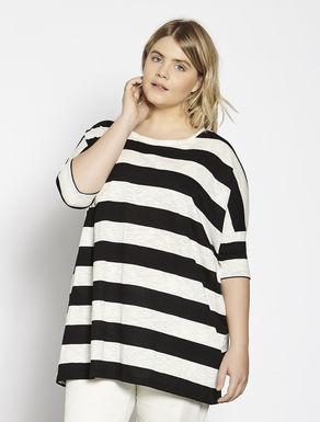 Striped jersey maxi T-shirt