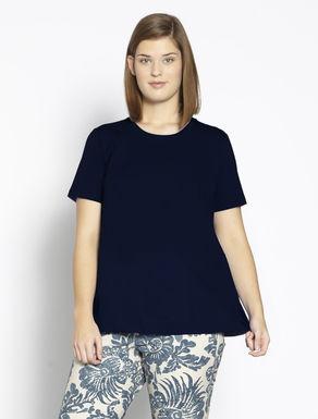 T-Shirt aus Jersey und Popeline