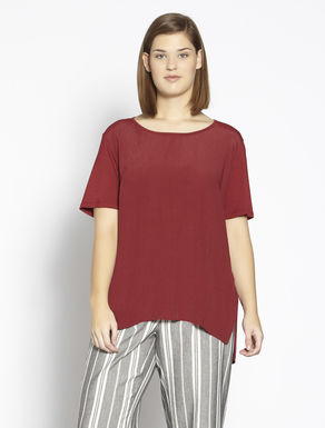 Relaxed-fit jersey and fabric T-shirt