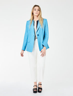 Silk, linen and wool jacket