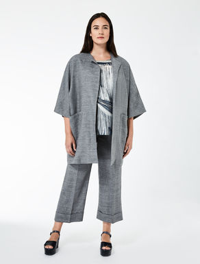 Relaxed-fit linen jacket