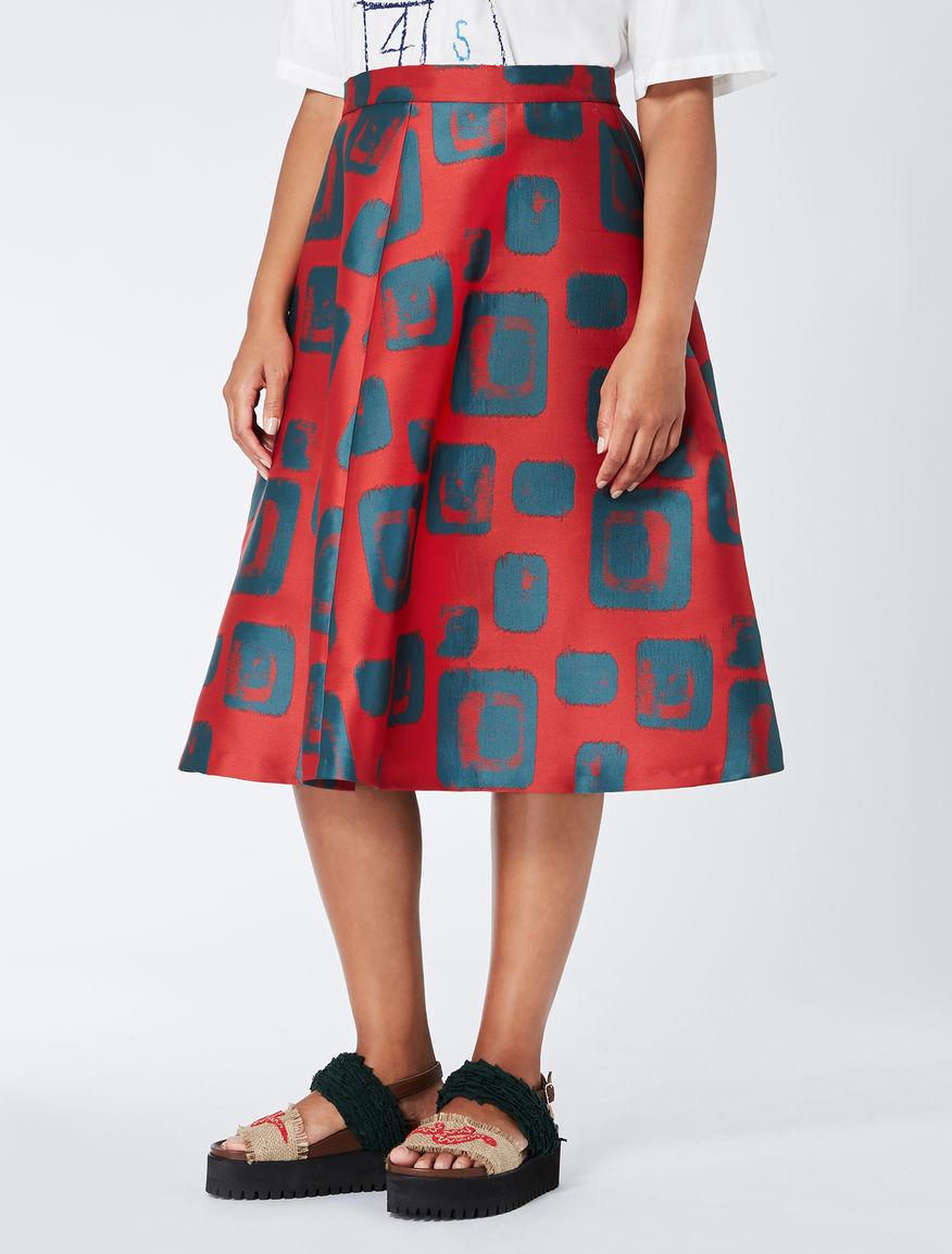 STELLA JEAN Geometric jacquard skirt
