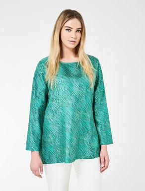 Printed silk twill tunic