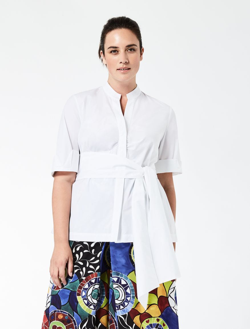 STELLA JEAN Cotton poplin shirt