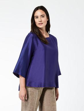 Silk shantung tunic blouse