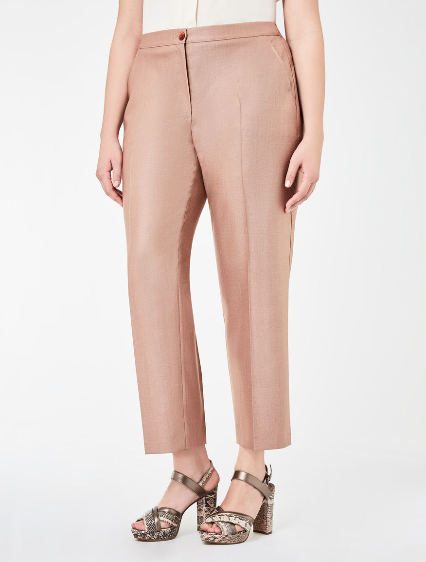 Classic wool and silk trousers