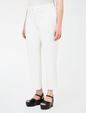 Pantalon en double coton stretch