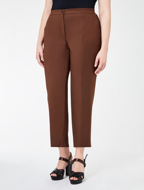Trousers in double stretch cotton