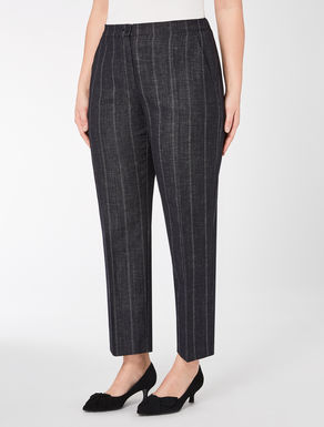 Denim-effect trousers