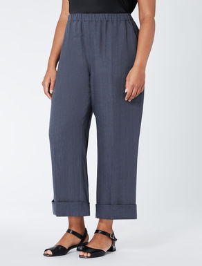 Straight-cut linen trousers