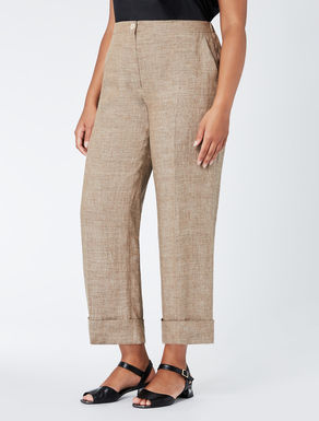 Classic linen crêpe trousers