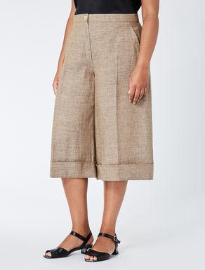 Linen crêpe Bermuda shorts