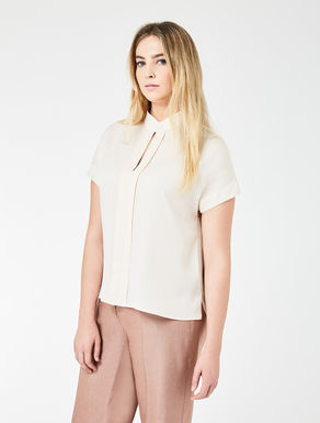 Top de georgette doble de seda