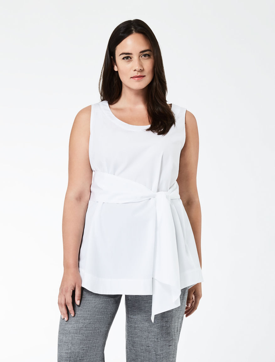 Cotton poplin top