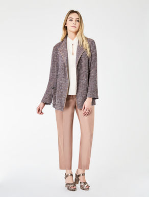 Two-tone basketweave jacket
