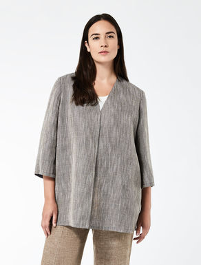 Linen basketweave tunic
