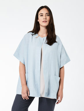 Lightweight linen tunic with embroidery