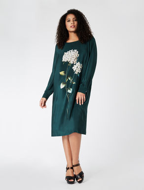 HERBARIUS Silk crêpe de Chine dress