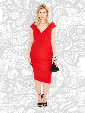 Wide-neck tube dress