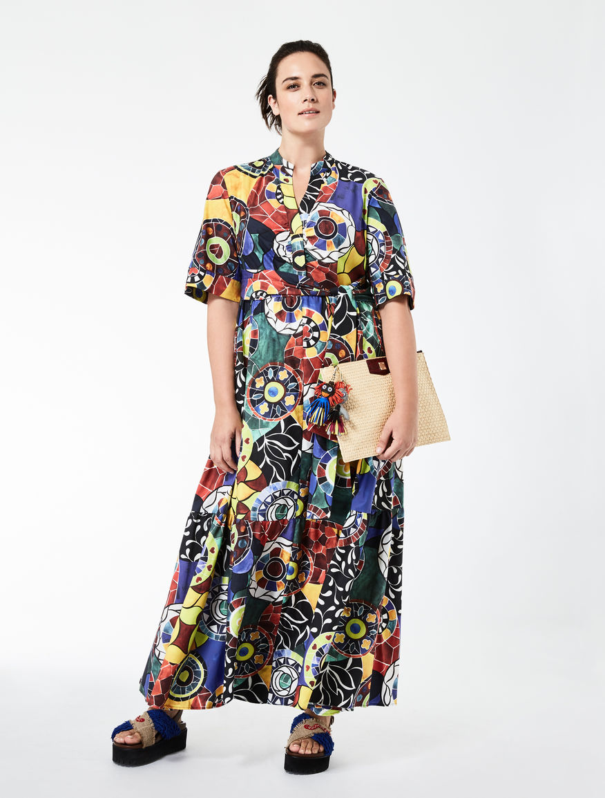 STELLA JEAN Long poplin dress
