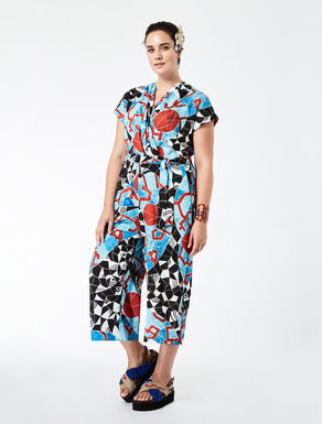 STELLA JEAN Printed cady jumpsuit