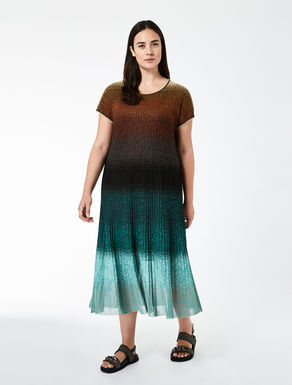 Long ribbed viscose dress