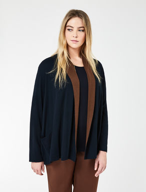 Pure wool gauze cardigan