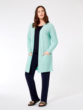 Long pure cashmere cardigan