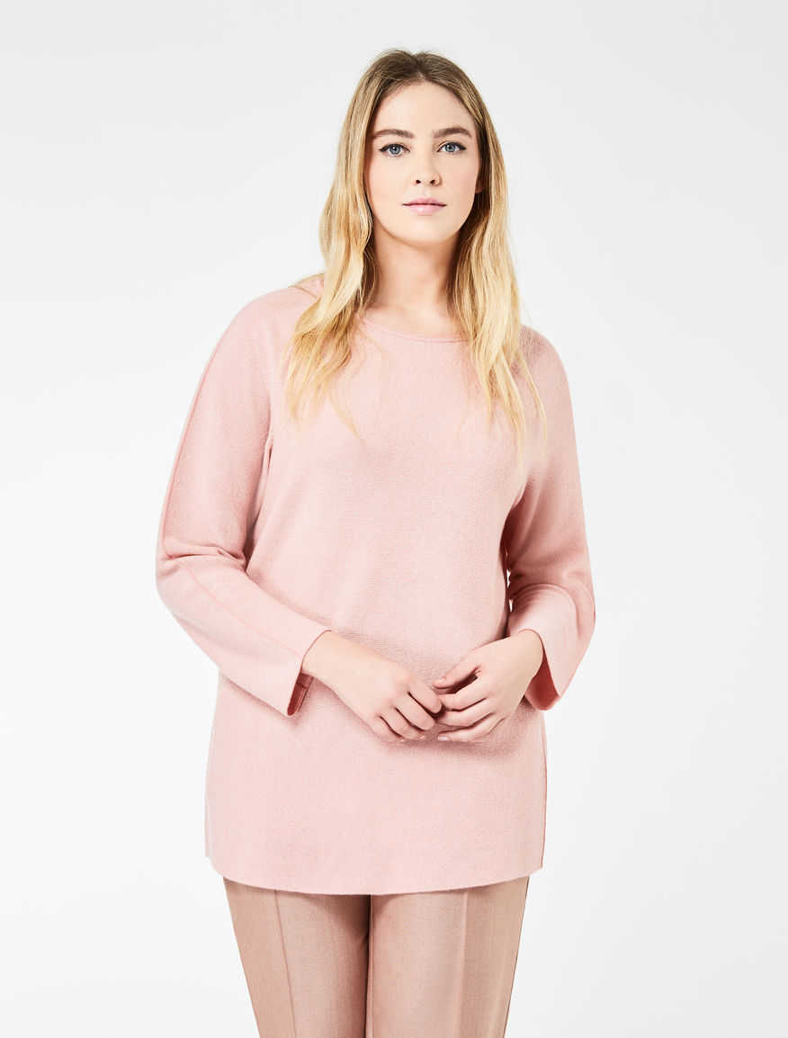 Long pure cashmere jumper