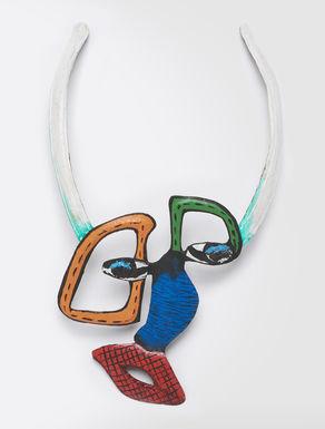 STELLA JEAN Collar de metal esmaltado