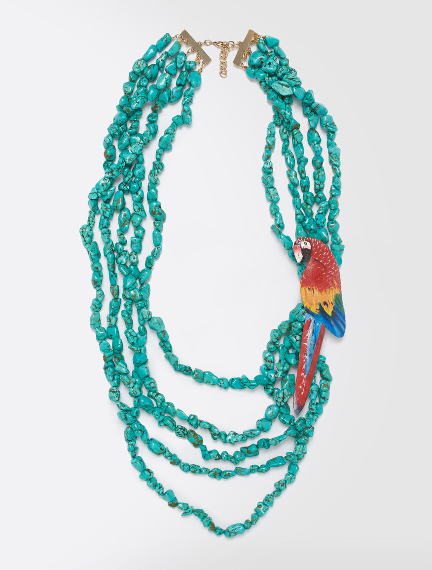 STELLA JEAN Multi-strand stone necklace