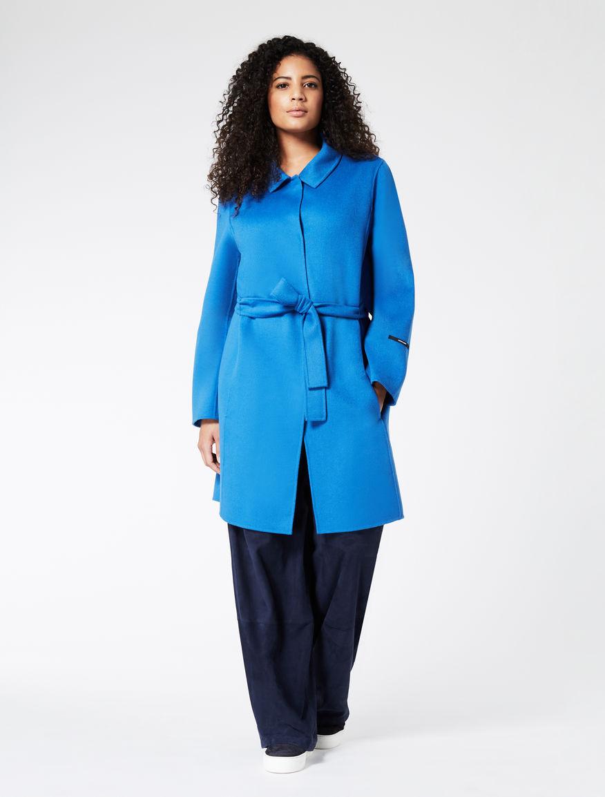 Manteau en double laine et angora