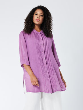 Long pure ramie shirt