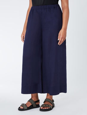 Pure linen wide-leg trousers