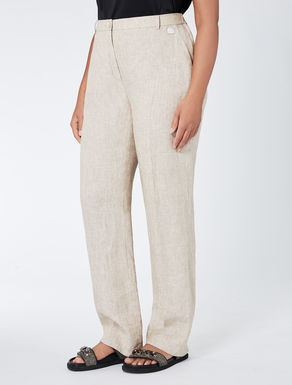 Straight-cut pure linen trousers