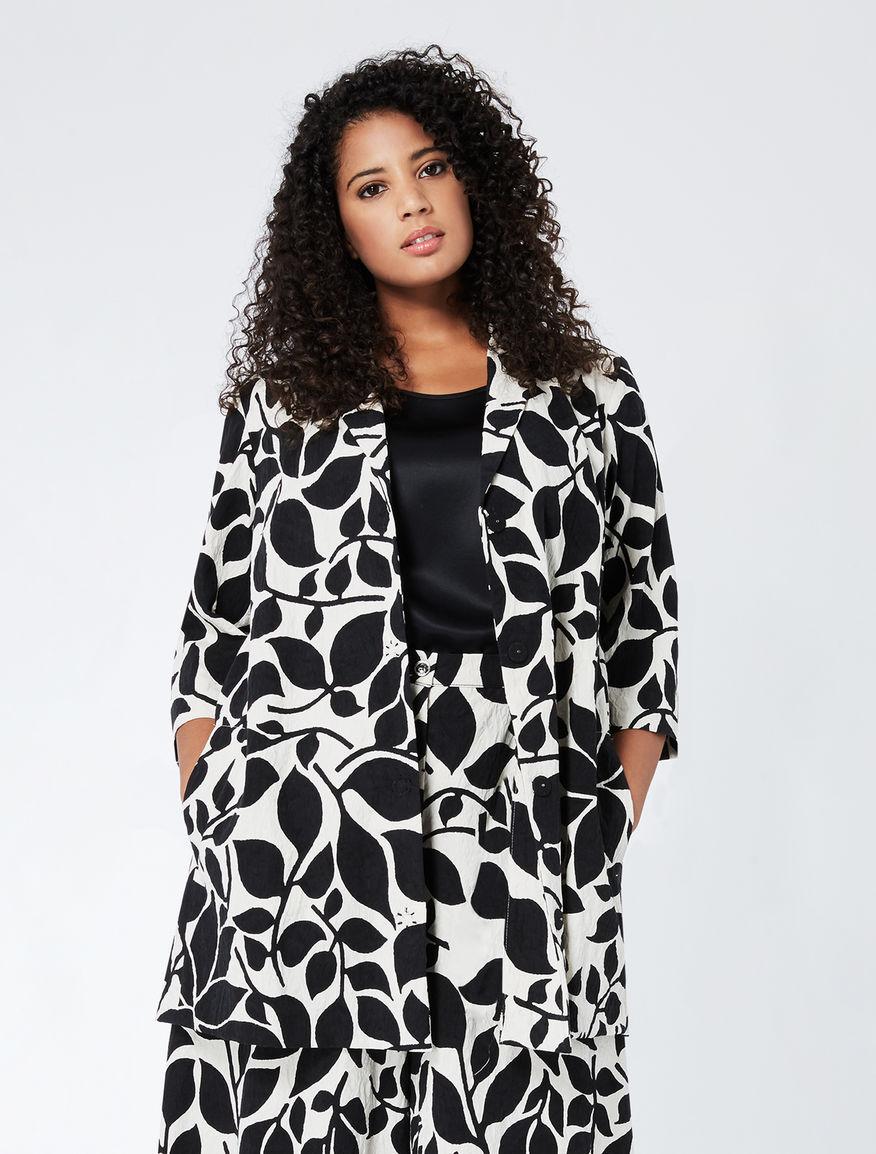 Printed jacquard cotton jacket