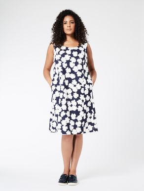 Printed basketweave princess dress