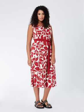 Printed jacquard A-line dress