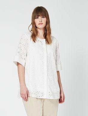 Openwork cotton shirt