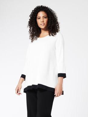 Pullover aus Komfort-Viskosekrepp