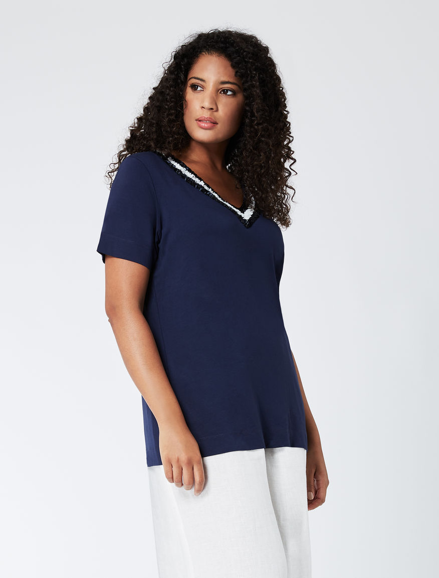 T-shirt en jersey stretch