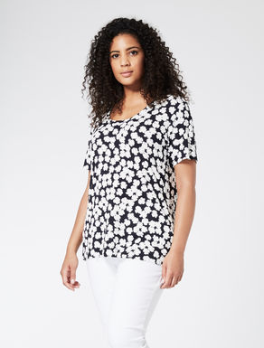 Printed viscose jersey T-shirt