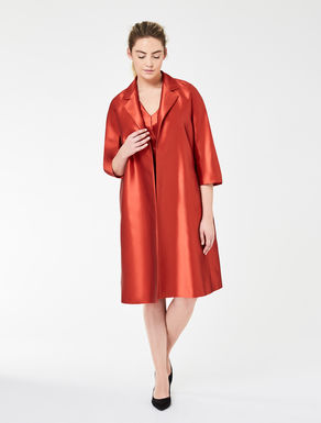 Mikado silk and wool cape