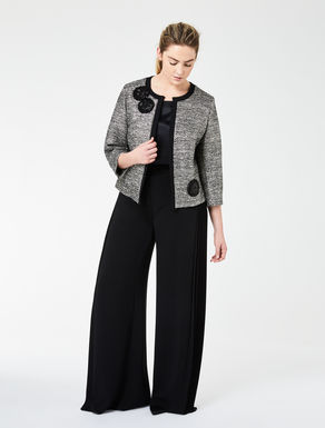 Lurex basketweave boxy jacket