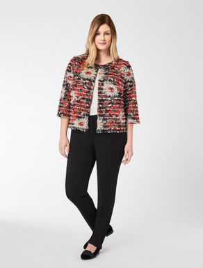 Jacket with printed micro-fringe
