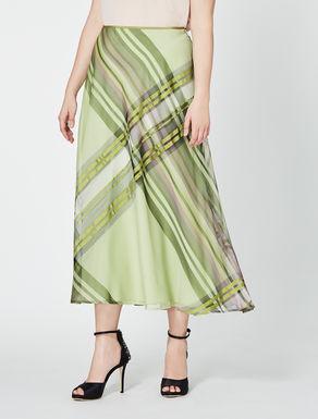 Long organza skirt