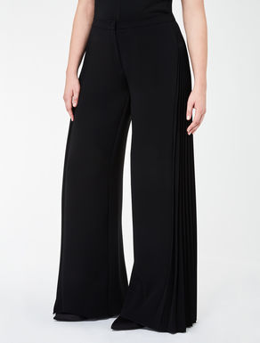 Triacetate trousers with pleat